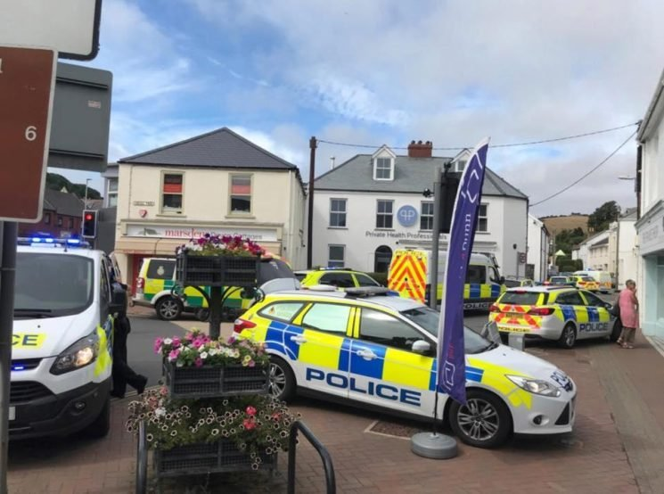 Devon man's throat slashed and woman suffers leg injury as armed cops swarm Braunton village