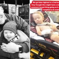 Greg Rutherford's baby son Rex rushed to hospital with mystery illness