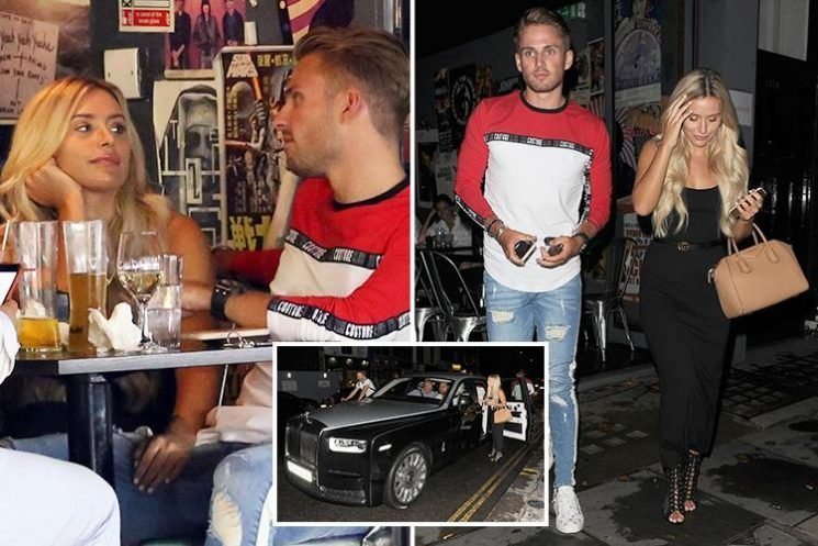 Love Island millionaire Charlie Brake takes Ellie Brown for a bargain dinner in Chelsea before leaving in his Rolls Royce
