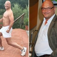 Masterchef's Gregg Wallace goes topless for morning workout as he shows off huge three stone weight loss
