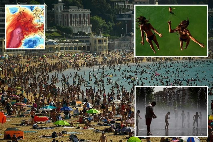 Europe set for its hottest day EVER with temperatures set to soar above 48C record set in 1977