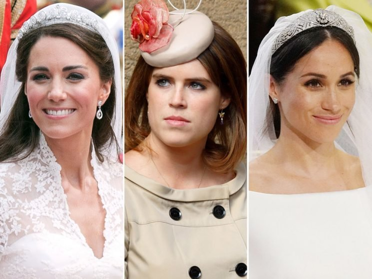 Why Princess Eugenie Can't Wear a Tiara, but Meghan Markle and Kate Middleton Can