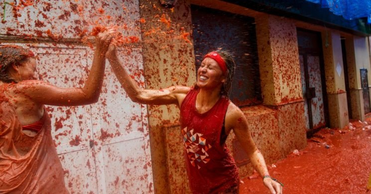 Prepare yourselves for the giant tomato fight that's coming to London