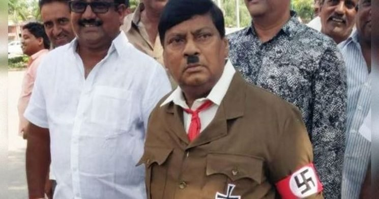 Indian MP sparks outrage turning up to Parliament dressed as Hitler