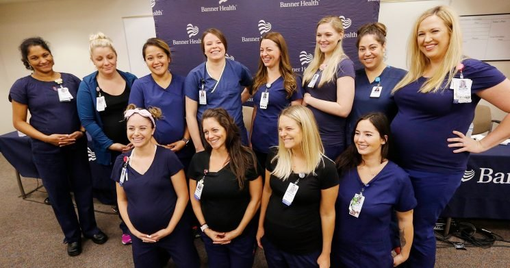16 Nurses at an Arizona Hospital Are Pregnant: See Their Bumps!