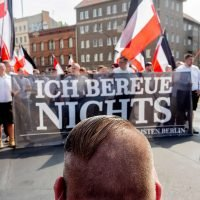 Neo-Nazis march in Berlin with police protection
