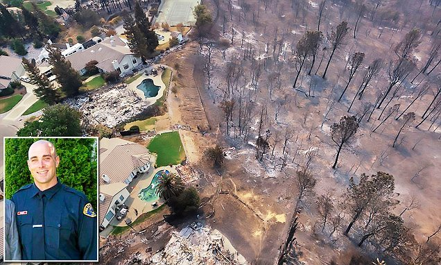 Drone images show charred trees and burnt-out homes in California