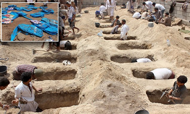 29 kids killed by Yemen airstrike to be buried alongside each other