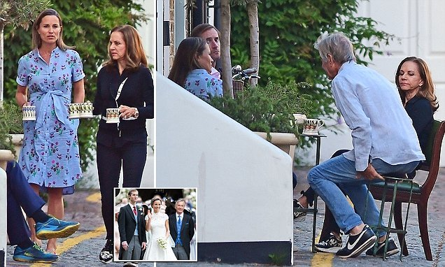 Pippa Middleton and father-in-law seen for first time since rape claim