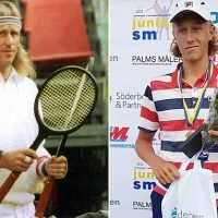 Wimbledon champion Bjorn Borg's son, set to follow in his footsteps