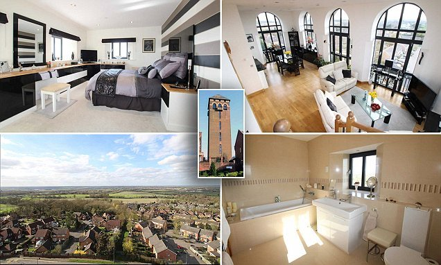 Penthouse with stunning views in 1930s WATER TOWER on sale for £750k