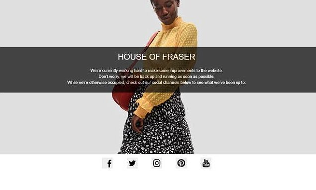 House of Fraser takes website offline after delivery complaints