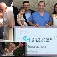 Girl, 3, who was kissed by Pope Francis recovers from brain tumor
