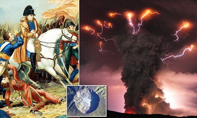 Napoleon's defeat at Waterloo helped by a Indonesian volcanic eruption