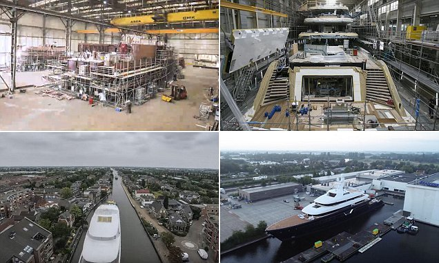 Time-lapse video shows a superyacht being built in just 5 MINUTES