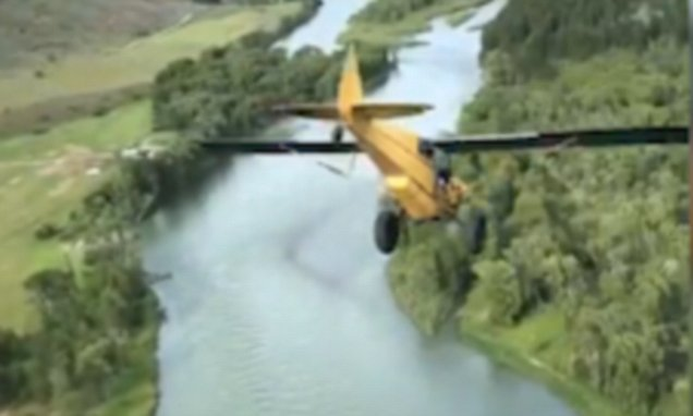 Gut-wrenching moment plane dives off cliff in incredible video