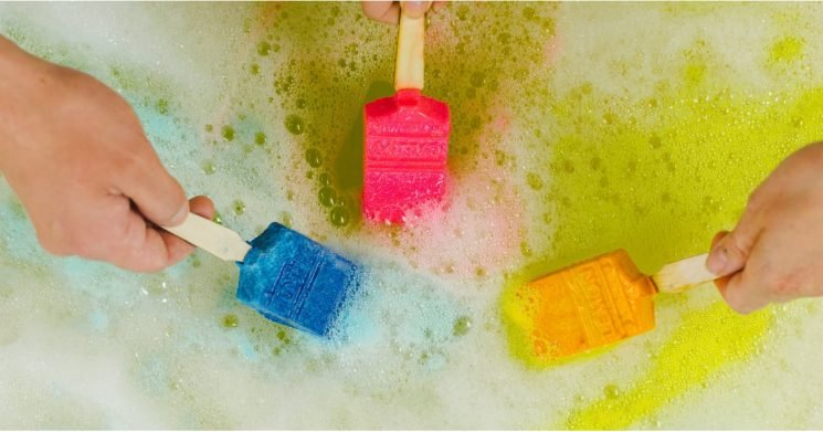Get Ready to Paint Your Bath Like One of Your French Girls With These Lush Bubble Bars