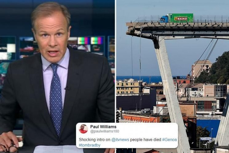 ITV faces Ofcom probe into 'lighthearted' coverage of Genoa Bridge collapse after being flooded with complaints