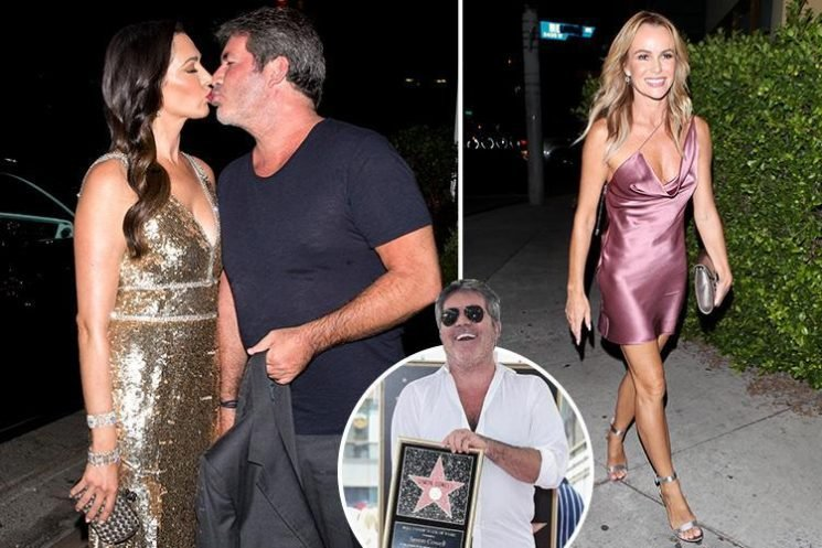 Simon Cowell kisses girlfriend Lauren Silverman as Amanda Holden stuns in LA at party to celebrate his Hollywood star on the walk of fame