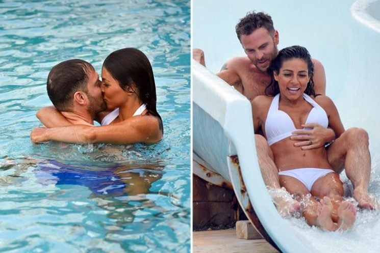 Roxanne Pallett kisses fiance Lee Walton on holiday after whirlwind engagement as she prepares to enter Celebrity Big Brother