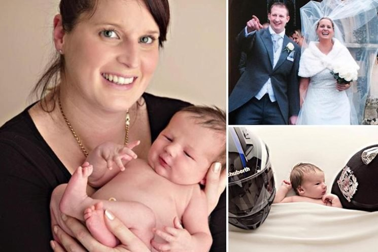 Widow of Road Wars TV cop opens up about his tragic death as she welcomes their baby son