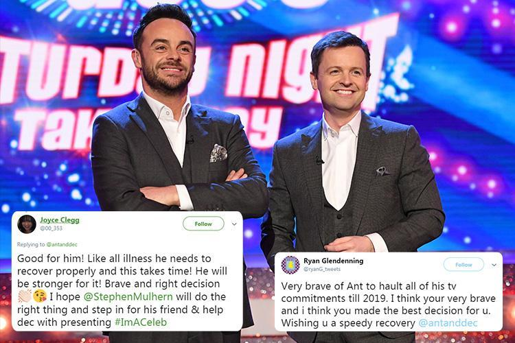 Ant McPartlin's fans praise 'brave' decision to take a break from TV as he pulls out of I'm A Celeb