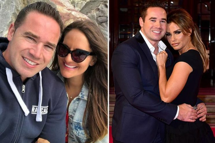 Katie Price's ex Kieran Hayler goes Instagram official with new girlfriend Michelle Penticost on trip to the beach with his children Bunny and Jett