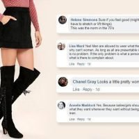 People debate if a black mini skirt and thigh-high boots is workplace appropriate… so what do YOU think?