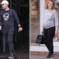 Declan Donnelly takes pregnant wife Ali Astall out to lunch in Chiswick as they prepare to become parents
