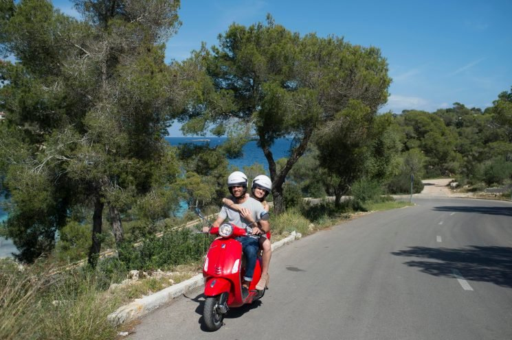 Hiring a Vespa is the perfect (and surprisingly safe) way to explore every corner of Majorca