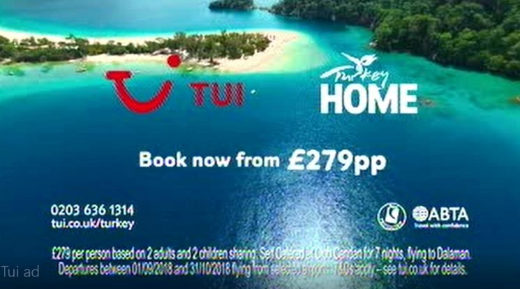 TUI advert advertising 'summer' holidays that are only available in September and October have been banned