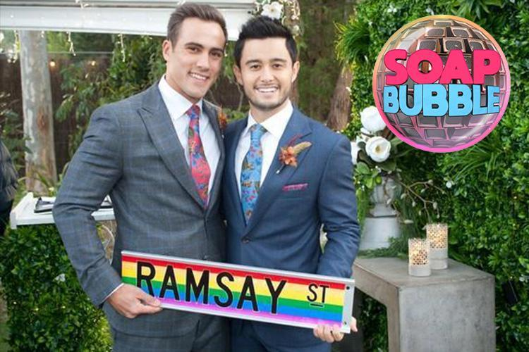 Neighbours stars Takaya Honda and Matty Wilson reveal the soap's first gay wedding will 'save lives'