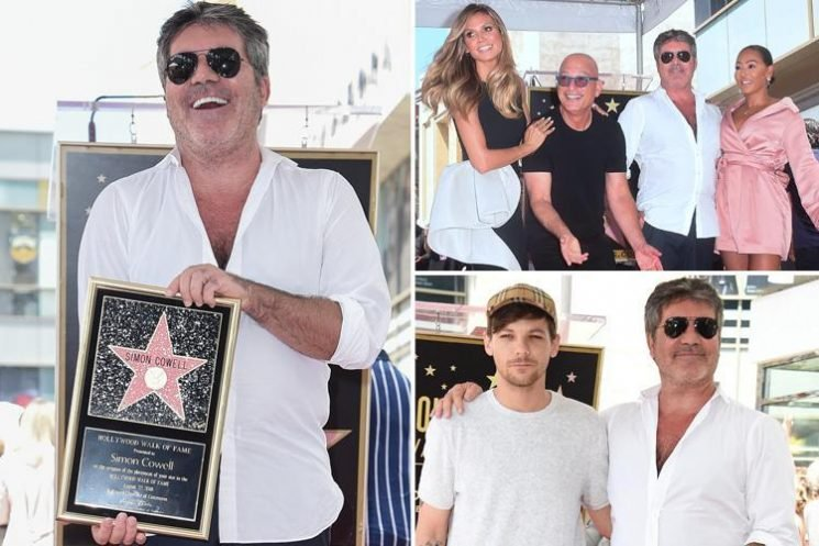Simon Cowell joined by Mel B, Leona Lewis and Louis Tomlinson as he gets his own Hollywood star