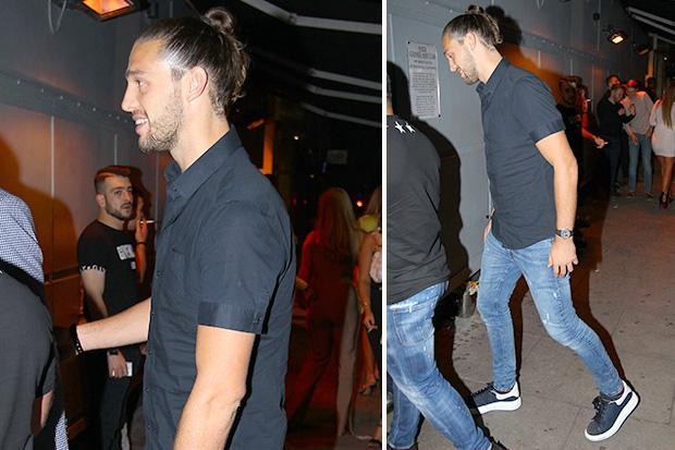 Crocked Andy Carroll puts West Ham defeat behind him while partying at Faces nightclub hours after Arsenal defeat