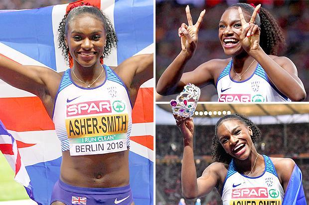 """Dina Asher-Smith ran like a """"bat out of hell"""" to make history in becoming first Brit to do the European sprint double"""