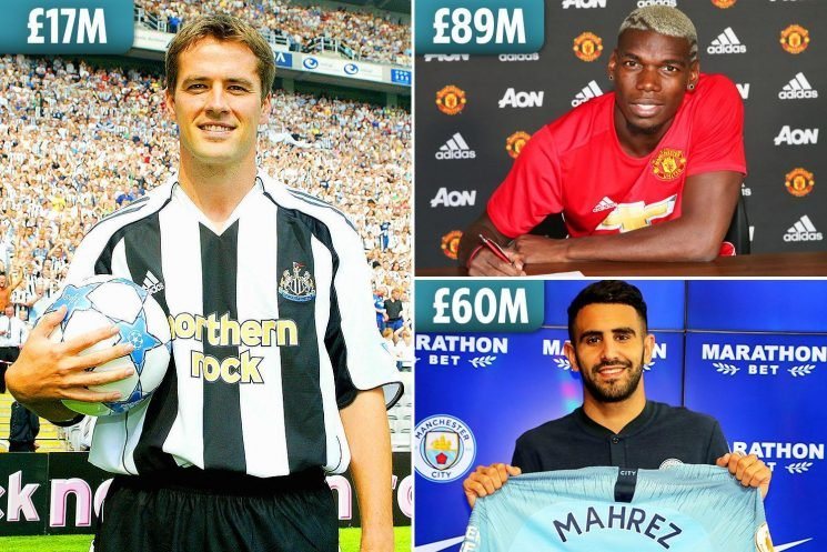 Newcastle amazingly haven't broken their transfer record for 13 years… but when did your Premier League club shatter their top fee?