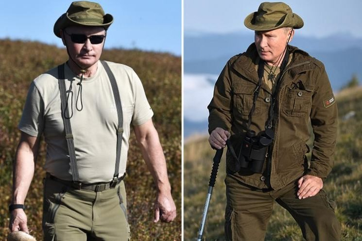 Vladimir Putin poses for Bear-Grylls-style photoshoot in Siberian mountains as he shows love for Mother Nature
