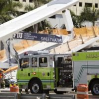 Videos show workers on Florida bridge shortly before collapse