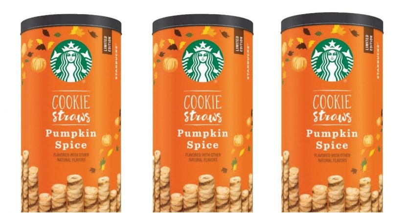 Guys, Starbucks Pumpkin Spice COOKIE STRAWS Are Hitting Grocery Store Shelves Soon!