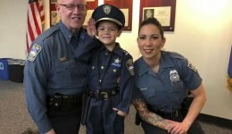 Honorary Police Officer, 4, Celebrates Completing His Last Round of Chemo for Stage-Four Cancer