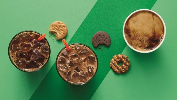 Dunkin' Donuts' Girl Scout Cookie Coffee Is Coming Back With a Mystery Flavor