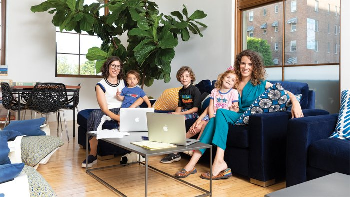 'GLOW' Bosses on the Importance of a Kid-Friendly Workspace