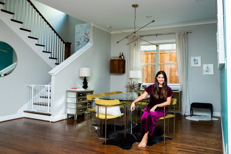 Inside Sean and Catherine Giudici Lowe's Redecorated 'Minimalistic Glam' Dining Room