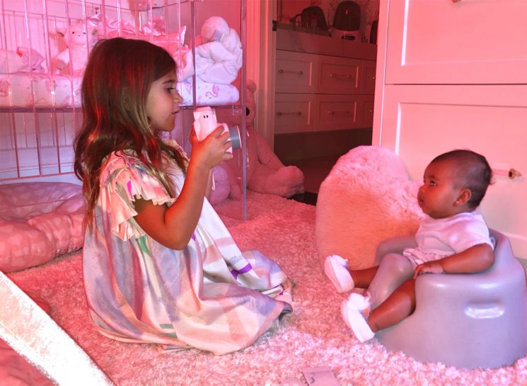 Khloe Kardashian's Daughter True Is a 'Very Good Baby Model' for Her Cousin Penelope