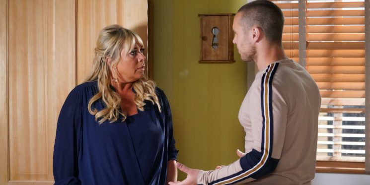 EastEnders' Keanu Taylor and Sharon Mitchell share a huge secret next week
