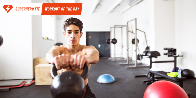 Superhero Fit Workout Move of the Day: Clean and Press to Windmill