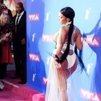Nicki Minaj Wears a Completely See-Through Dress at MTV VMAs