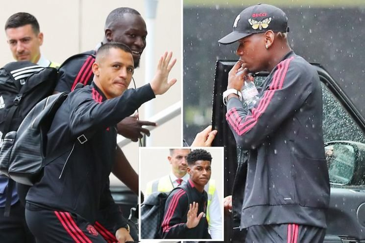 Paul Pogba leads Manchester United to Lowry Hotel for team meeting while agent Mino Raiola continues to push him towards Barcelona move
