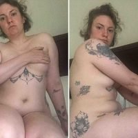 Lena Dunham posts naked selfies on Instagram to mark hysterectomy anniversary