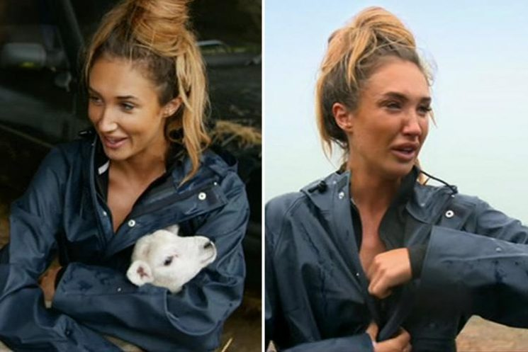Megan McKenna reveals she given up eating lamb after bursting into tears feeding one on Celebs On The Farm